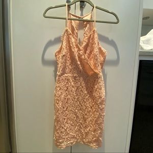 Urban Outfitters Blush Pink Lace Dress